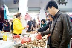 Shenzhen, China: farmers market Stock Image