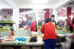 Shenzhen, China: farmers market Royalty Free Stock Photos