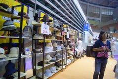 Shenzhen, China: fashion hat exhibition sales Royalty Free Stock Photo