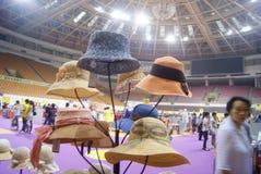 Shenzhen, China: fashion hat exhibition sales Stock Photos