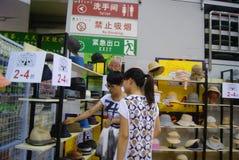 Shenzhen, China: fashion hat exhibition sales Stock Photo