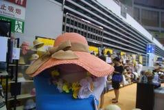Shenzhen, China: fashion hat exhibition sales Stock Images