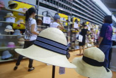 Shenzhen, China: fashion hat exhibition sales Stock Image