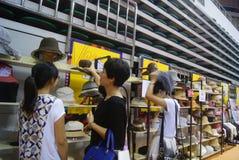 Shenzhen, China: fashion hat exhibition sales Royalty Free Stock Photos