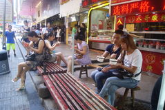 Shenzhen, China: fast food shop Royalty Free Stock Photography