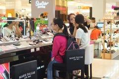 Shenzhen, China: female cosmetic beauty activities Stock Photography