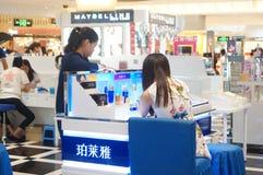 Shenzhen, China: female cosmetic beauty activities Stock Photo