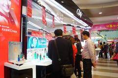 Shenzhen, China: female cosmetics counters Royalty Free Stock Photo