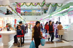 Shenzhen, China: female cosmetics counters Royalty Free Stock Photos