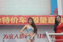 Shenzhen, China: female model show Royalty Free Stock Image