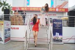 Shenzhen, China: female model show Royalty Free Stock Photos