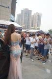 Shenzhen, China: female model show Stock Photography