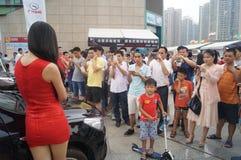 Shenzhen, China: female model show Royalty Free Stock Photography