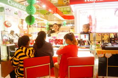 Shenzhen, China: female shoppers in shopping malls Royalty Free Stock Photography