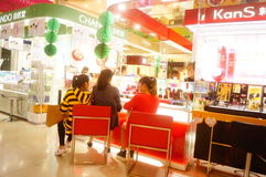 Shenzhen, China: female shoppers in shopping malls Royalty Free Stock Images