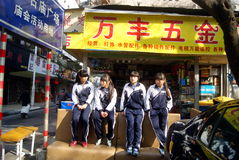 Shenzhen, china: female students Royalty Free Stock Photos