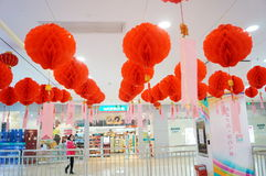 Shenzhen, China: the festival of lanterns, guess riddles Stock Images