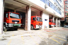 Shenzhen china: the fire engine Stock Photo