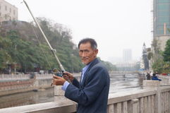 Shenzhen, China: Fishing Royalty Free Stock Photography
