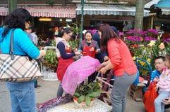 Shenzhen, China: Flower Market Stock Photo