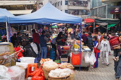 Shenzhen, China: food stalls Royalty Free Stock Image