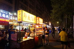 Shenzhen, China: food stalls in the night Stock Images