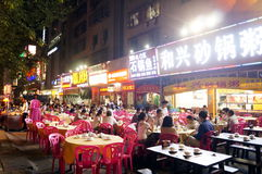 Shenzhen, China: food stalls in the night Royalty Free Stock Images