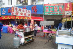 Shenzhen, China: Food street landscape Stock Photos