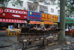 Shenzhen, China: Food street landscape Royalty Free Stock Photos
