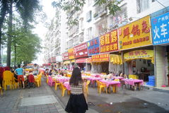 Shenzhen, China: Food street landscape Stock Images