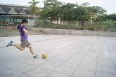 Shenzhen, China: football practice Stock Image