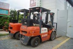 Shenzhen, China: forklift Stock Photo