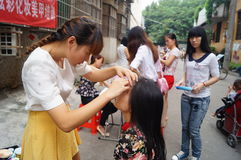 Shenzhen, China: free beauty events Royalty Free Stock Photo