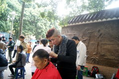 Shenzhen, China: free hair cut Royalty Free Stock Images