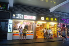 Shenzhen, China: Fresh Juice shop Royalty Free Stock Image