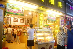 Shenzhen, China: Fresh Juice shop Stock Photography