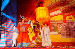 Shenzhen, China: funcionamiento tradicional de la ópera imagen de archivo