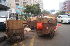 Shenzhen, China: garbage transfer points Stock Photos