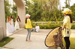Shenzhen, China: girls in outdoor photography Stock Photo