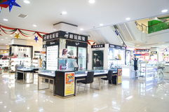 Shenzhen, China: Glasses sales counters Royalty Free Stock Images