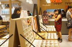 Shenzhen, China: glasses shop Royalty Free Stock Photo