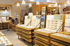 Shenzhen, China: glasses shop Stock Image