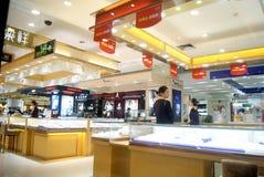 Shenzhen, China: gouden juwelenwinkel Royalty-vrije Stock Fotografie