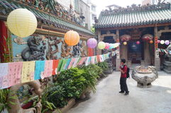 Shenzhen, China: guess riddles written on lanterns festival Stock Images
