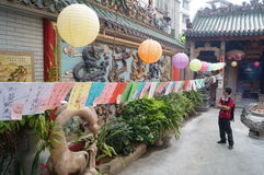 Shenzhen, China: guess riddles written on lanterns festival Royalty Free Stock Photography