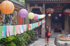 Shenzhen, China: guess riddles written on lanterns festival Royalty Free Stock Photo