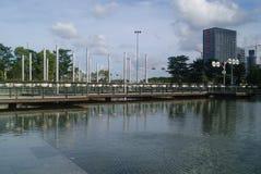Shenzhen, China: haian cheng architectural landscape Royalty Free Stock Photo
