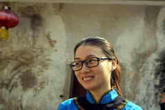 Shenzhen, china: hakka girl Royalty Free Stock Photos