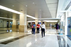 Shenzhen china: the hall of the hospital landscape Royalty Free Stock Image
