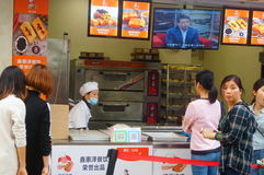 Shenzhen, China: Handmade Bread, people queue up to buy Royalty Free Stock Photos